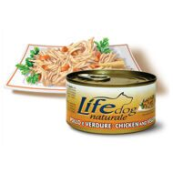 Lifedog chicken & vegetables деликатесы для собак курица с овощами в желе (банка) 170 гр.