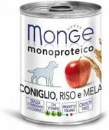 Monge Dog Monoproteico Fruits консервы для собак паштет из кролика с рисом и яблоками 400 гр